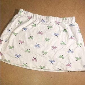LILLY's BEVERLY HILLS TRNNIS RACQUET WHITE SKIRT M